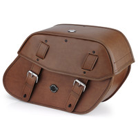 Vikingbags Honda 1500 Valkyrie Interstate Viking Odin Brown Large Leather Motorcycle Saddlebags Main View