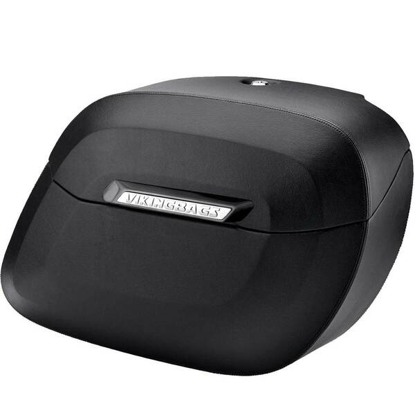 Vikingbags Honda 1500 Valkyrie Interstate Viking Lamellar Leather Covered Shock Cutout Hard Saddlebag