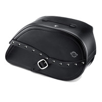 Vikingbags Honda 1500 Valkyrie Interstate Armor Shock Cutout Studded Motorcycle Saddlebags Main View
