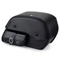 Viking Side Pocket Large Motorcycle Saddlebags For Harley Softail Breakout