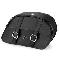 Viking Shock Cutout Slanted Large Motorcycle Saddlebags For Harley Street 750