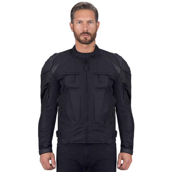 VikingCycle Asger Black Motorcycle Jacket for Men