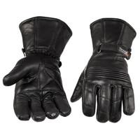 Viking Cycle Men's Premium Leather Gauntlet Motorcycle Cruiser Gloves