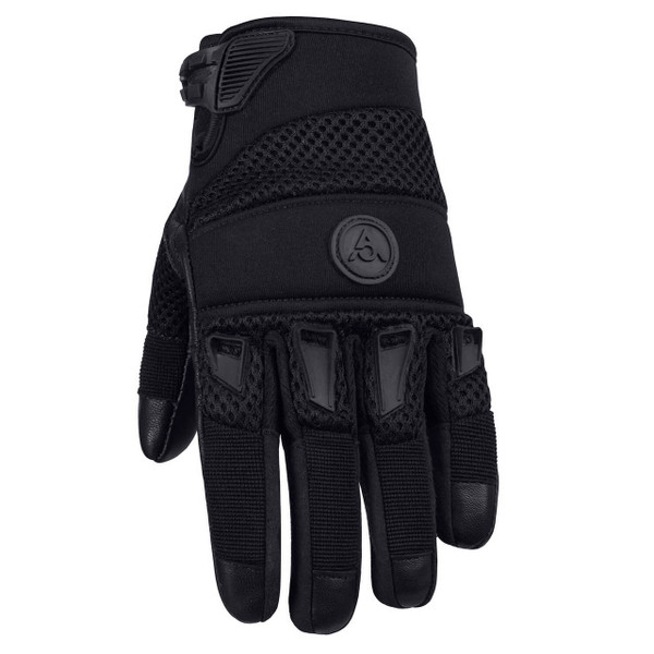 Viking Cycle Crossbreed Riding Leather/Textile Motorcycle Gloves For Men