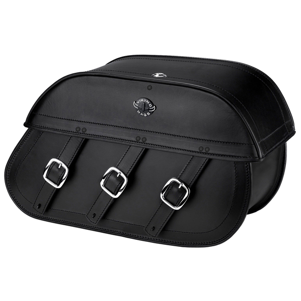 Viking Trianon Motorcycle Saddlebags For Harley Softail Slim 01