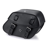 Viking Odin Large Motorcycle Saddlebags For Harley Softail Low Rider