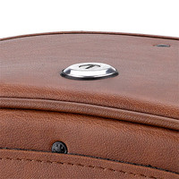 Victory Jackpot Warrior Series Brown Large Motorcycle Saddlebags 03