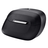 Kawasaki Vulcan 800 Classic Viking Lamellar Large Leather Covered Non-Shock Cutout Hard Saddlebags