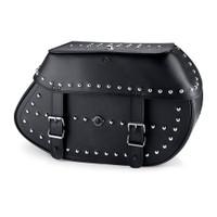 Viking Specific Studded Saddlebags For Harley Softail Cross Bones FLSTSB 1