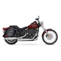 Viking Lamellar Slanted Painted Motorcycle Hard Saddlebags For Harley Softail Night Train FXSTB