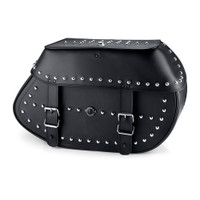 Viking Specific Studded Saddlebags For Harley Softail Night Train FXSTB 1
