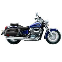 Honda 750 Shadow Ace Lamellar Extra Large Painted Shock Cutout Motorcycle Hard Saddlebags