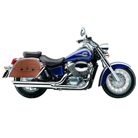 Honda 750 Shadow Ace Viking Warrior Series Brown Large Motorcycle Saddlebags
