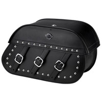 Honda 750 Shadow Aero Trianon Studded Leather Motorcycle Saddlebags