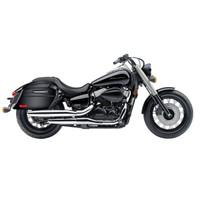 Honda 750 Shadow Phantom Viking Lamellar Slanted Painted Motorcycle Hard Saddlebags