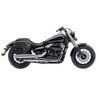 Honda 750 Shadow Phantom Viking Odin Studded Large Leather Motorcycle Saddlebags