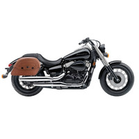 Honda 750 Shadow Phantom Viking Warrior Series Brown Large Motorcycle Saddlebags