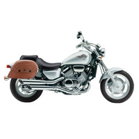 Honda Magna 750 Viking Warrior Series Brown Large Motorcycle Saddlebags