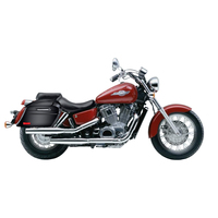 Honda 1100 Shadow ACE Viking Lamellar Slanted Painted Motorcycle Hard Saddlebags