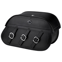 Honda 1100 Shadow Ace Trianon Plain Leather Motorcycle Saddlebags