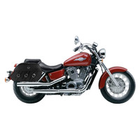 Honda 1100 Shadow Ace Trianon Plain Leather Motorcycle Saddlebags