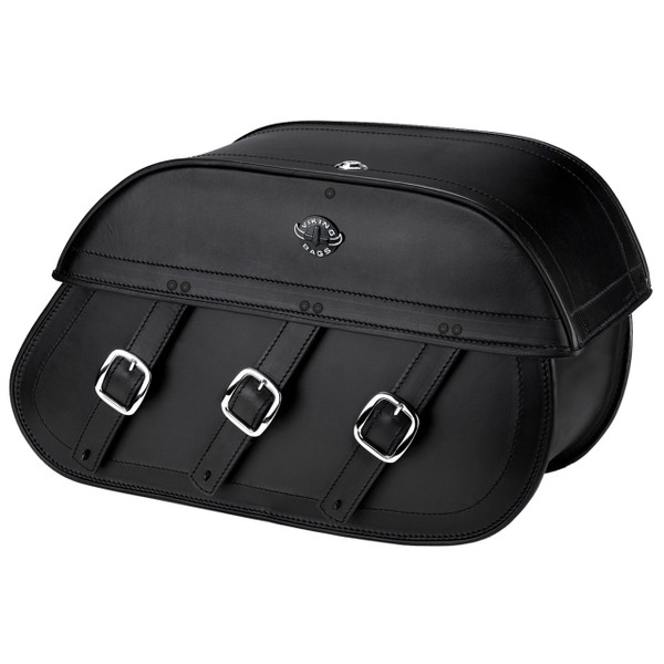 Honda VTX 1300 S Trianon Plain Leather Motorcycle Saddlebags