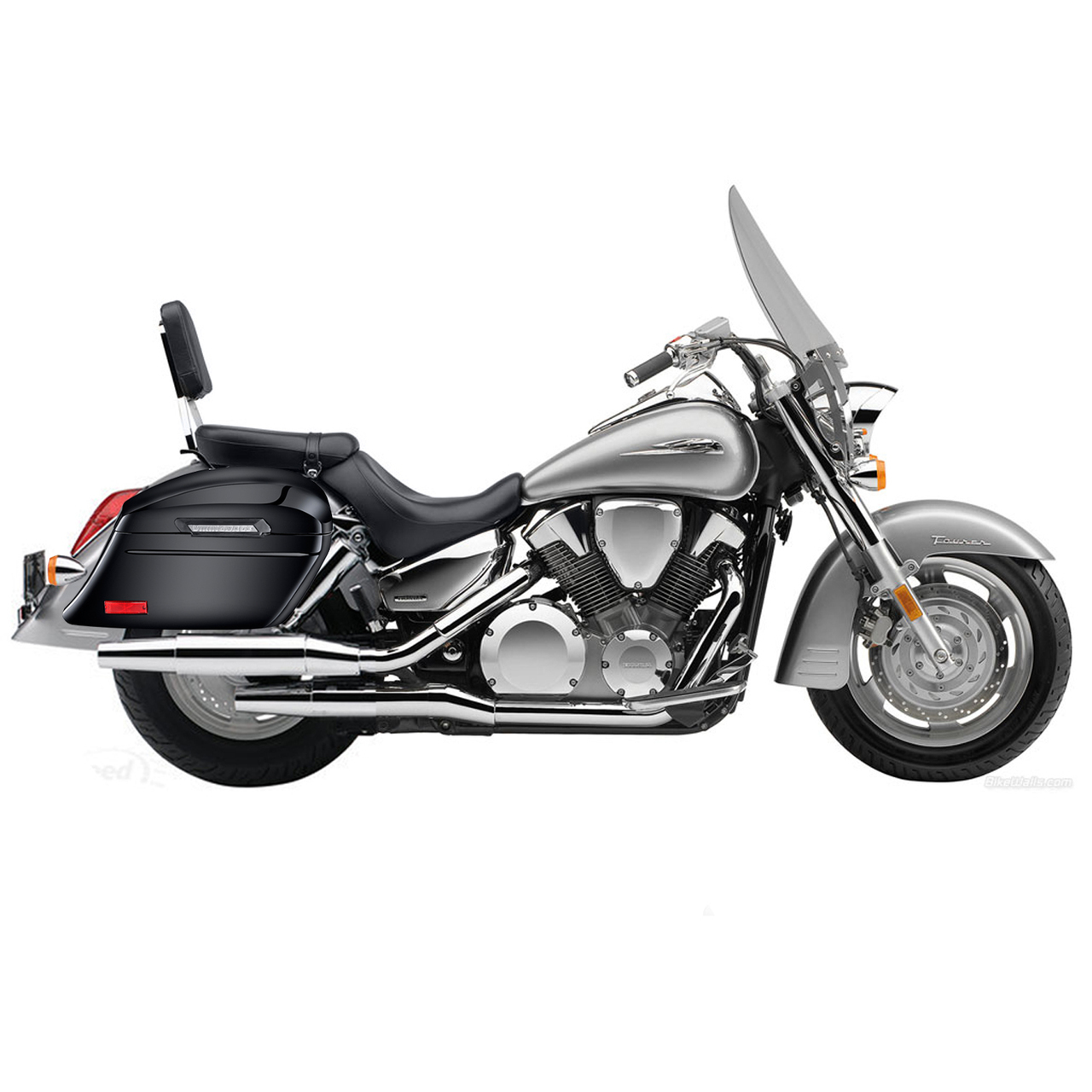 Honda VTX 1300 T Tourer Viking Lamellar Slanted Painted Motorcycle Hard  Saddlebags