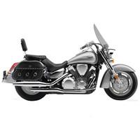 Honda VTX 1300 T Tourer Trianon Studded Leather Motorcycle Saddlebags