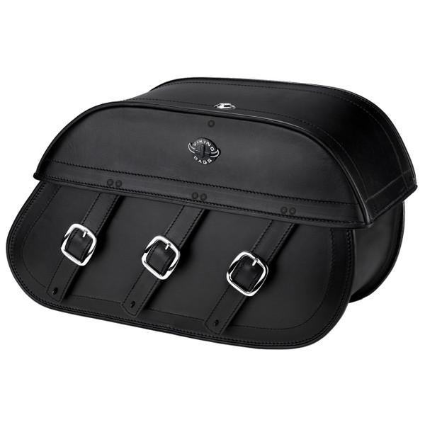 Honda VTX 1800 C Trianon Plain Leather Motorcycle Saddlebags