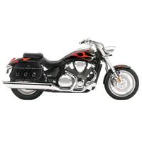 Honda VTX 1800 C Trianon Studded Leather Motorcycle Saddlebags