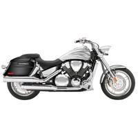 Honda VTX 1800 F Viking Lamellar Slanted Painted Motorcycle Hard Saddlebags