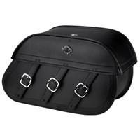 Honda VTX 1800 F Trianon Plain Leather Motorcycle Saddlebags