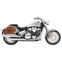 Honda VTX 1800 F Viking Warrior Series Brown Large Motorcycle Saddlebags