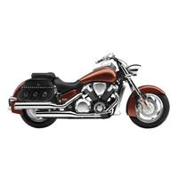 Honda VTX 1800 N Trianon Studded Leather Motorcycle Saddlebags