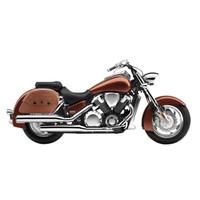 Honda VTX 1800 N Viking Warrior Series Brown Large Motorcycle Saddlebags