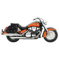 Honda VTX 1800 S Trianon Plain Leather Motorcycle Saddlebags