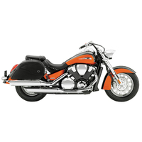 Honda VTX 1800 S Ultimate Shape Plain Extra Large Motorcycle Saddlebags