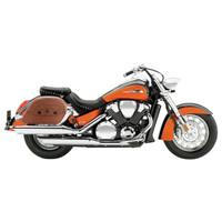 Honda VTX 1800 S Viking Warrior Series Brown Large Motorcycle Saddlebags