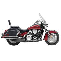 Honda VTX 1800 T (Tourer) Viking Lamellar Slanted Leather Covered Motorcycle Hard Saddlebags