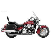 Honda VTX 1800 T (Tourer) Ultimate Extra Large Plain Motorcycle Saddlebags