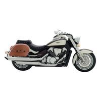 Suzuki Boulevard C109 Viking Warrior Series Brown Large Motorcycle Saddlebags
