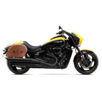Suzuki Boulevard M109 Viking Warrior Series Brown Large Motorcycle Saddlebags
