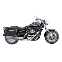 Suzuki Boulevard M95 Viking Lamellar Slanted Leather Motorcycle Hard Saddlebags
