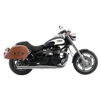 Triumph Speedmaster Viking Warrior Series Brown Large Motorcycle Saddlebags 02