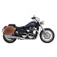 Triumph Thunderbird Viking Warrior Series Brown Large Motorcycle SaddleBags