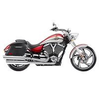 Victory Vegas Viking Lamellar Slanted Leather Motorcycle Hard Saddlebags