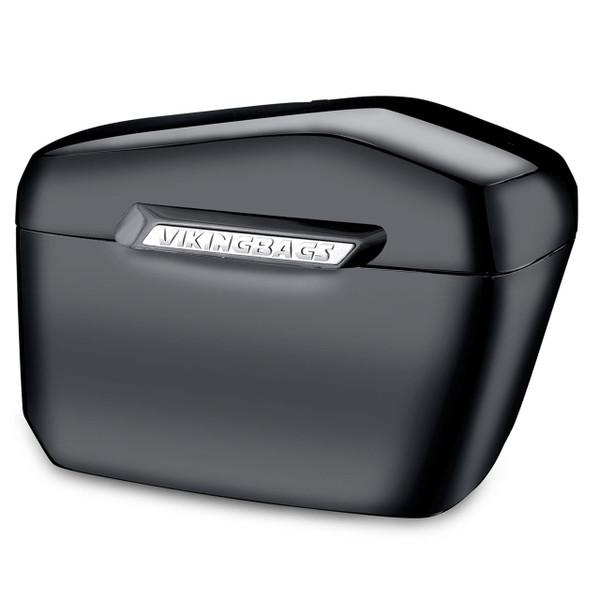 Harley Softail Deluxe FLSTN Viking Lamellar Large Black Hard Saddlebags