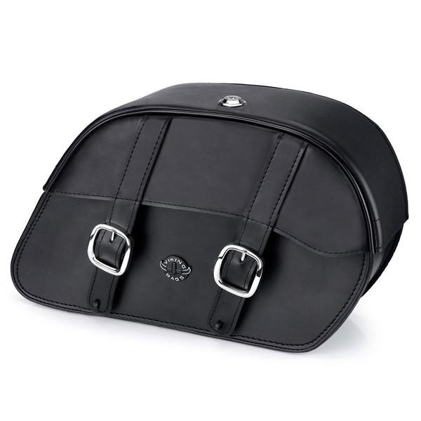 Harley Softail Custom FXSTC Charger Medium Slanted Leather Saddlebags 1