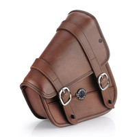 Sportster Specific Motorcycle Brown Swing Arm Bag
