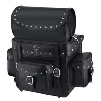 Viking Revival Series Studded Motorcycle Sissy Bar Bag